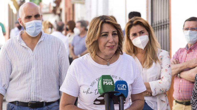 Susana Díaz: «Cuanto antes convoque» Moreno elecciones, «antes lo sacamos de la Junta para que deje de hacer daño»