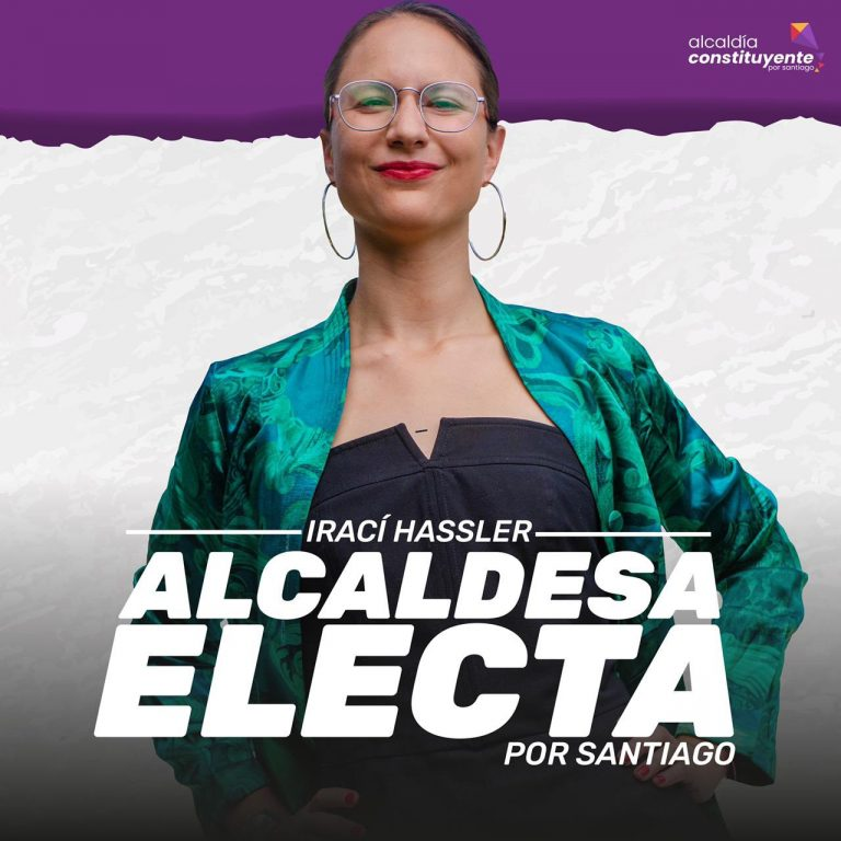 Santiago de Chile gira a la izquierda: Irací Hassler (Partido Comunista) obtiene la alcaldía