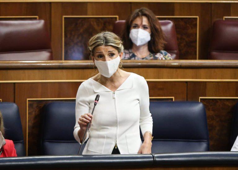 """Yolanda Díaz promete derogar la reforma laboral antes de diciembre. Si no, """"haré lo que tenga que hacer"""""""