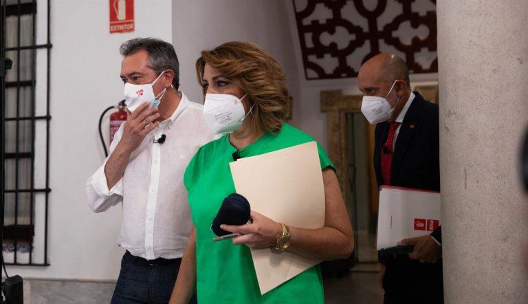 Susana Díaz cierra este sábado la campaña de las primarias en Sevilla y Juan Espadas y Luis Ángel Hierro en Jaén