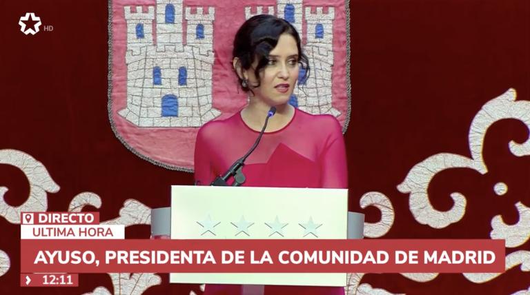 Ayuso ya es de nuevo presidenta de la Comunidad de Madrid