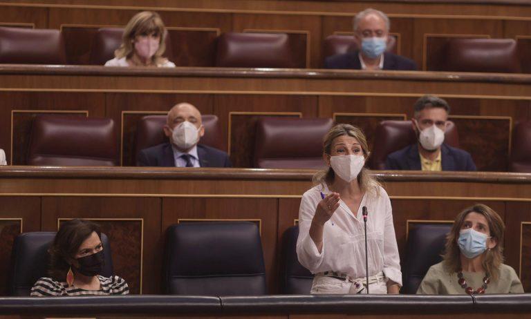 Yolanda Díaz replica a Egea que ya hemos recuperado la afiliación de antes de la pandemia gracias al gobierno actual