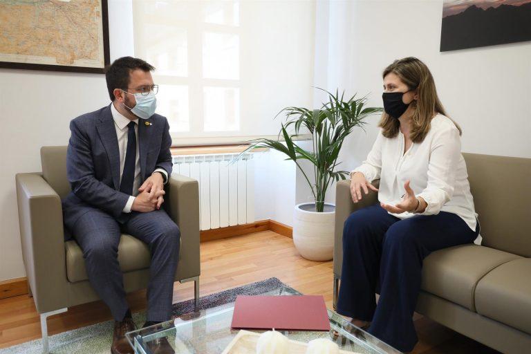 Aragonès reconoce «la realidad nacional» de Aran y se compromete a fortalecer relaciones