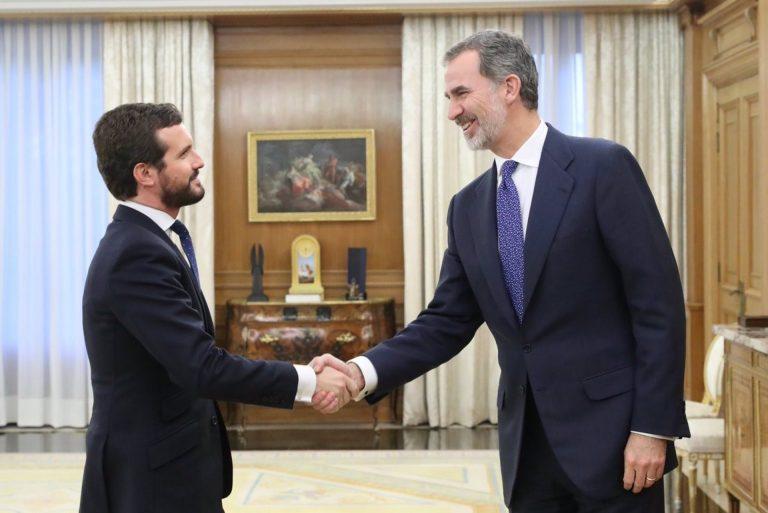 Casado reivindica la «impecable labor» de servicio a España de Felipe VI en el séptimo aniversario de su proclamación