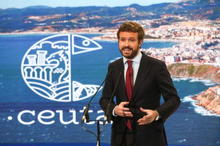 Casado viaja a Ceuta este jueves en plena escalada verbal entre España y Marruecos