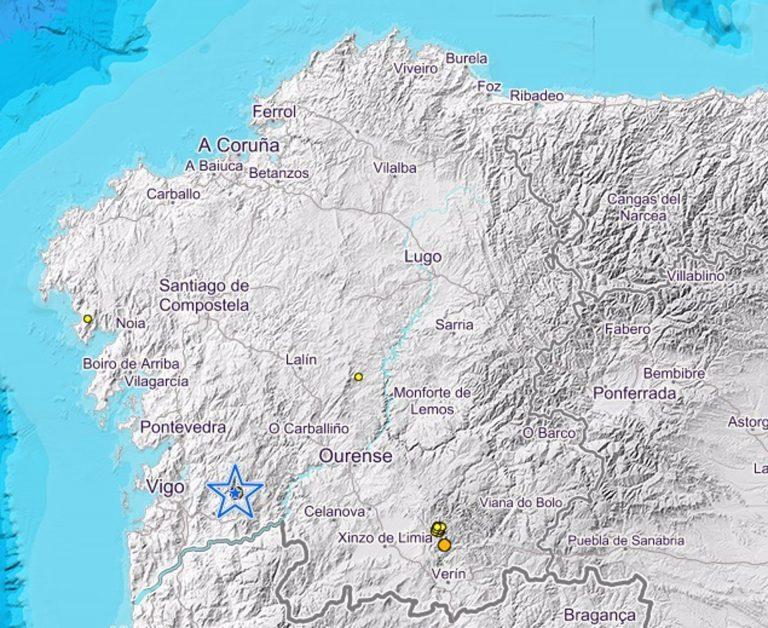 Laza (Ourense) vuelve a registrar varios terremotos en menos de 24 horas y Covelo (Pontevedra), uno de magnitud 2,2