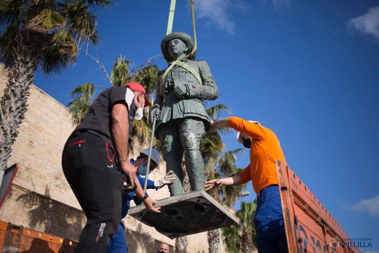 Melilla no tendrá que reponer la estatua de Franco, pero sí deberá conservarla