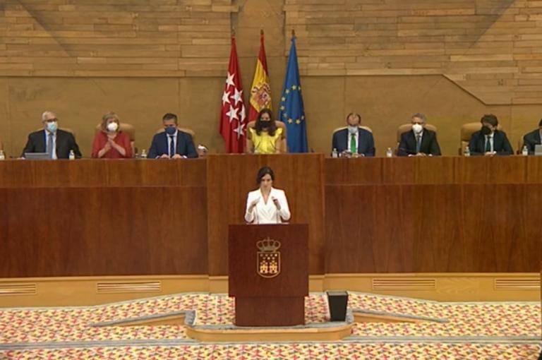 Ayuso anuncia rebaja en el número de consejeros y una ayuda de 500 euros mensuales para embarazadas empadronadas en Madrid