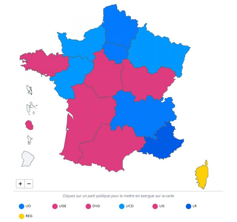 Le Pen y Macron fracasan en las regionales de Francia