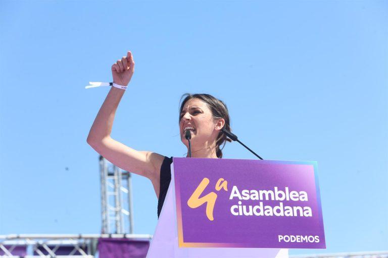 Irene Montero se compromete a llevar la ley del 'solo sí es sí' al Congreso antes del verano