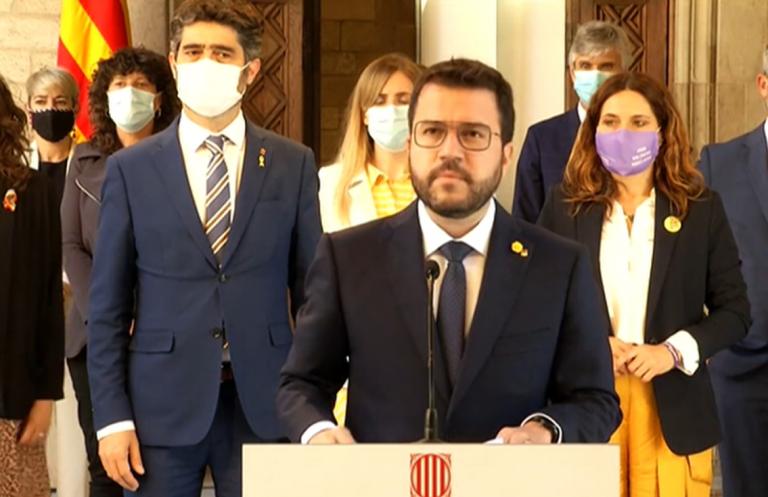Pere Aragonès cree que los indultos son un avance pero exige amnistía y referéndum acordado