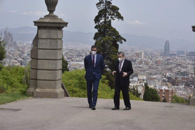 Sánchez y Draghi vuelven a encontrase en Barcelona para el Foro España-Italia