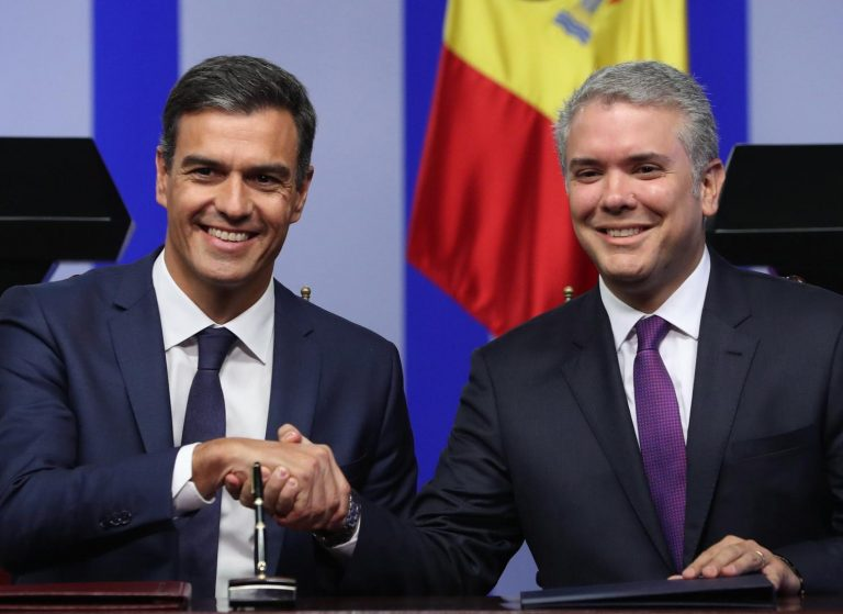 """Sánchez muestra su """"máximo repudio"""" hacia el ataque contra el presidente de Colombia"""
