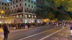 Enfrentamientos entre manifestantes y Policía en Argüelles tras la concentración por el asesinato de Samuel