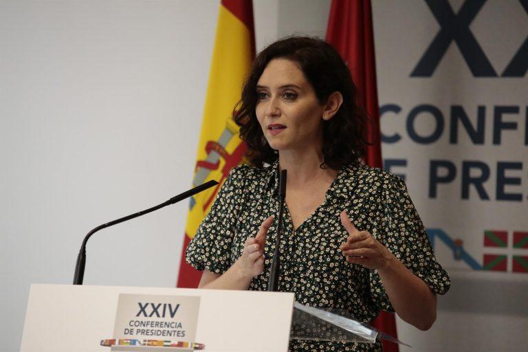 Ayuso critica que España tenga el «único gobierno que opera contra los intereses de su capital»