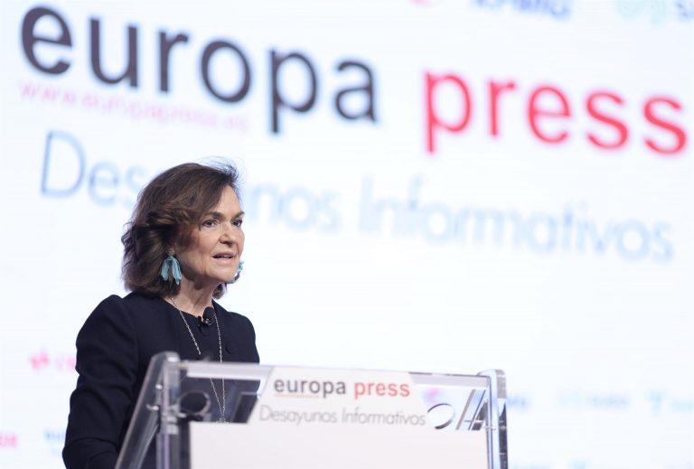 Carmen Calvo señala al PP por bloquear la renovación de los órganos constitucionales