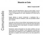 comunicado-exteriores-Cuba