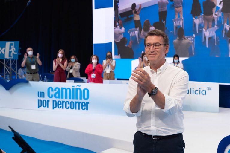 Feijóo reelegido líder del PP gallego con el 98,3% de los votos