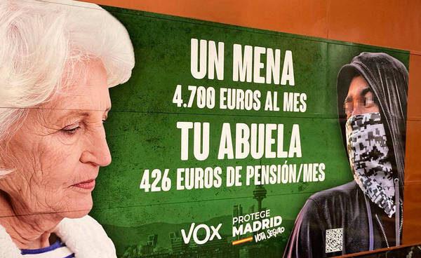 La justicia avala el cartel de Vox sobre los 'menas'
