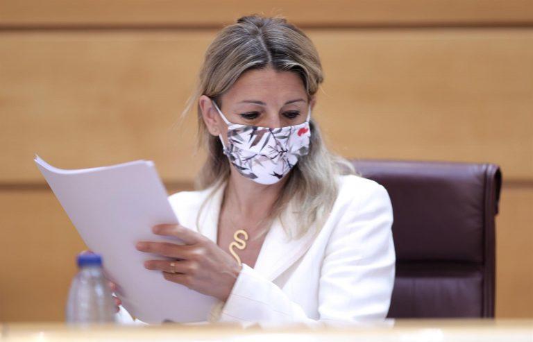 Yolanda Díaz reafirma su propuesta de cambiar patria por 'matria' y recuerda que ya lo dijo Unamuno