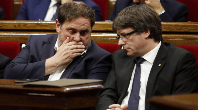 Puigdemont y Junqueras se verán hoy después de cuatro años