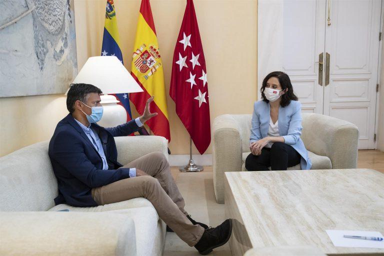 """Ayuso se reúne con Leopoldo López para analizar el """"crecimiento del autoritarismo en Hispanoamérica"""""""