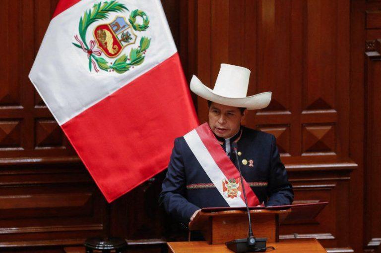 Pedro Castillo anuncia su reforma constitucional en Perú