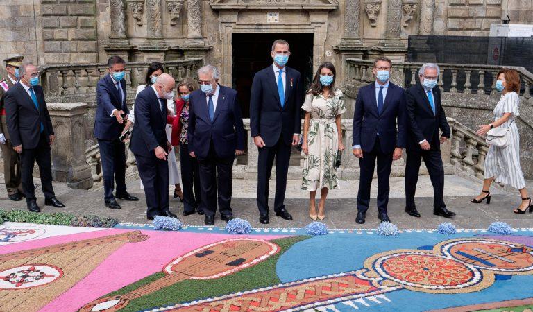 El Rey preside la Ofrenda al Apóstol en un domingo 25 de julio que vuelve a reunir al Real Patronato de Santiago
