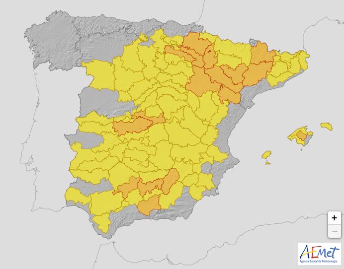 Alerta en el Valle del Ebro por altas temperaturas