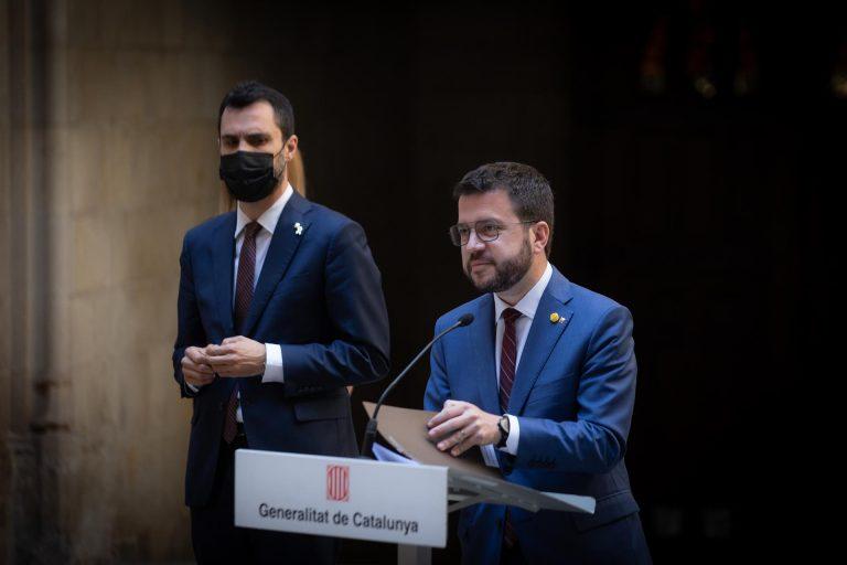 Aragonès critica la «judicialización del debate» tras la citación de Torrent ante el TSJC