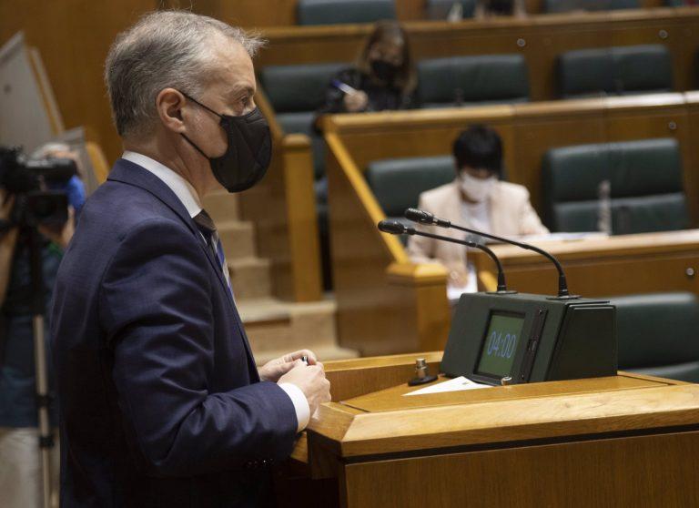 Urkullu pide a Sánchez que reconsidere el uso obligatorio de la mascarilla