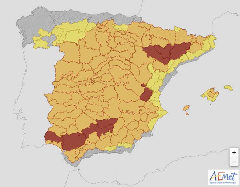 Asturias, única CA peninsular sin avisos el sábado por temperatura extrema
