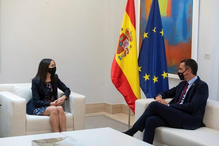 Arrimadas se abre a negociar los Presupuestos con el PSOE