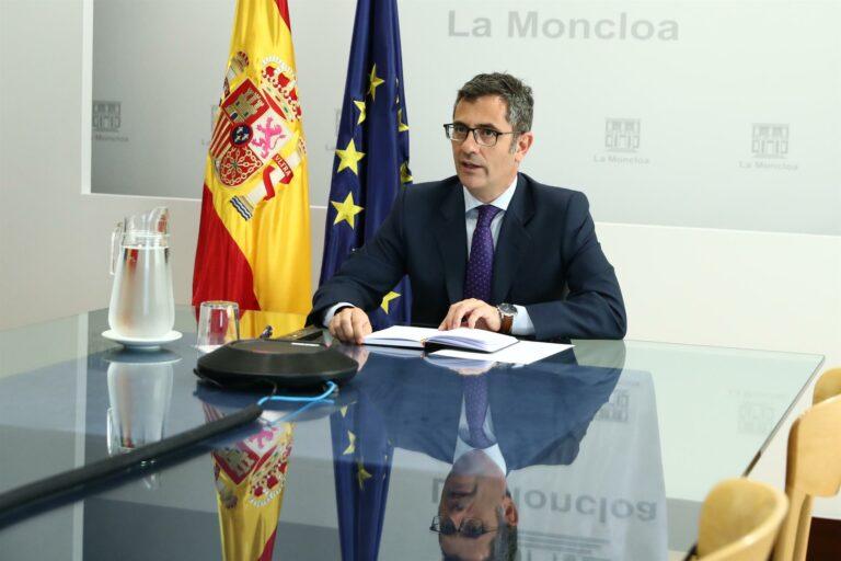 Bolaños reprocha a Junts que cuestione la mesa de diálogo antes de empezar y no le dé una oportunidad
