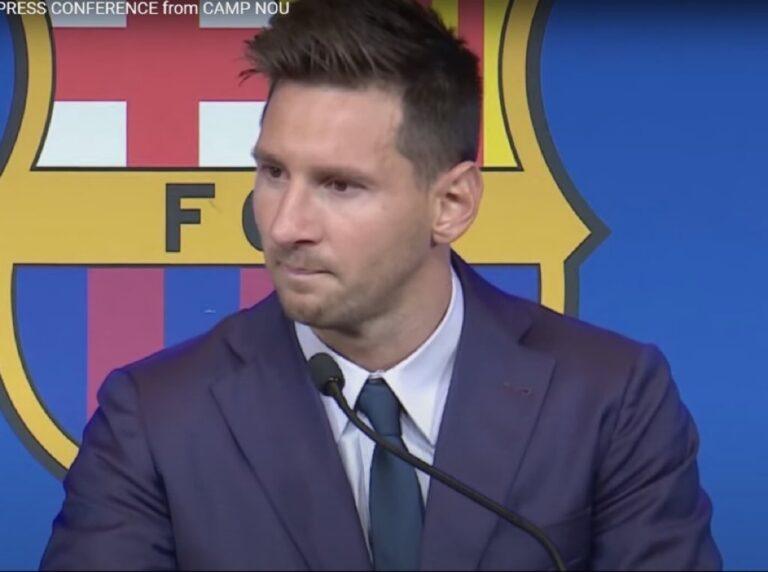 Messi, emocionado, se despide del FC Barcelona