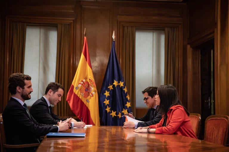García Egea y Arrimadas presumen de Gobierno en Andalucía