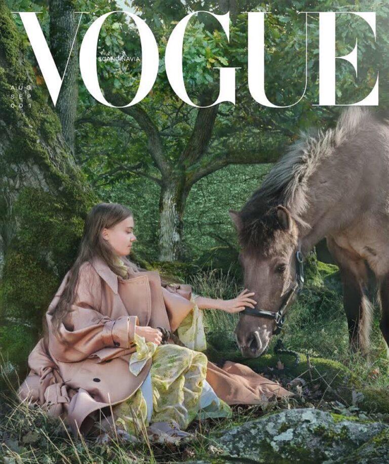 Greta Thunberg, portada de Vogue escandinavia