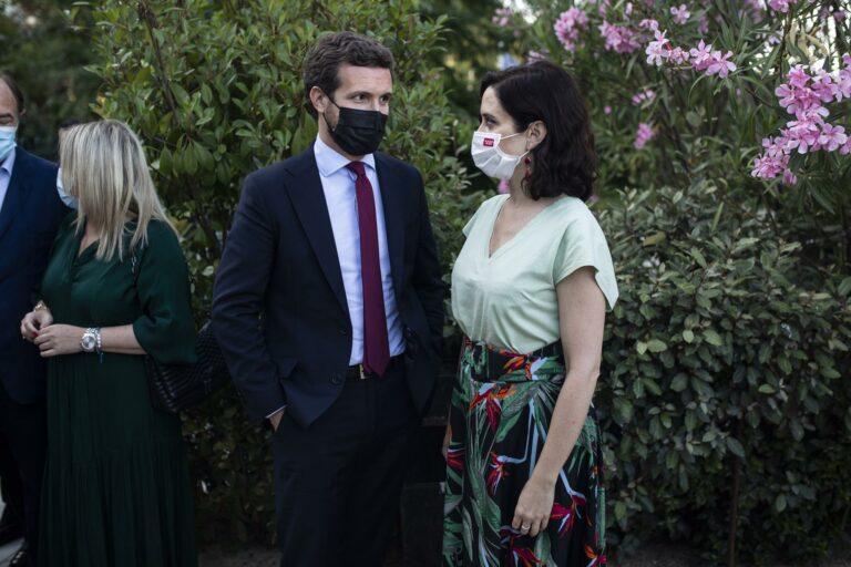 Casado y Ayuso se encuentran hoy en València en la Convención del PP