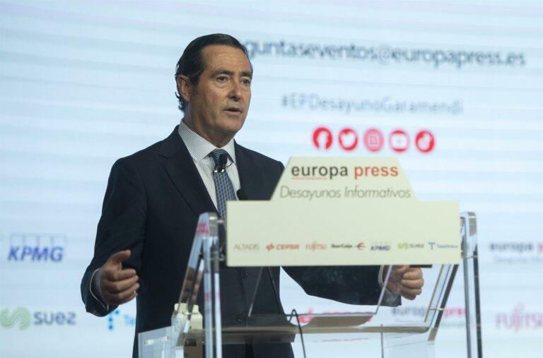 """Garamendi (CEOE) reitera que no es el momento de subir el SMI: """"Venimos de un año y medio horrible"""""""