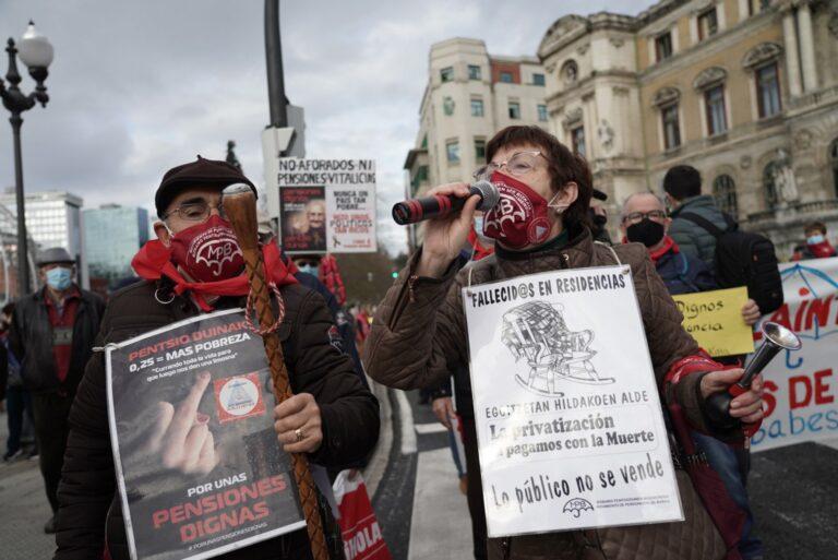 El Movimiento de Pensionistas reanudará este lunes sus concentraciones en las capitales vascas