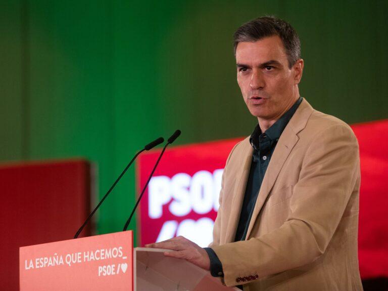 Sánchez: «España avanza cuando gobierna el PSOE»