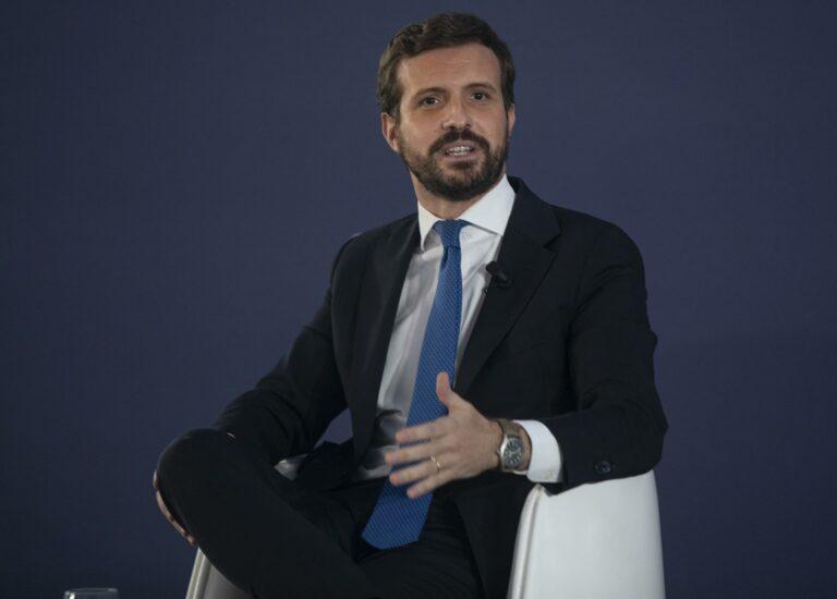 """Pablo Casado destaca la coalición Navarra Suma como ejemplo de hacer """"las cosas bien"""""""