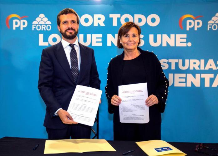 La coalición PP-Foro Asturias, en el aire por las posiciones opuestas sobre la oficialidad del asturiano