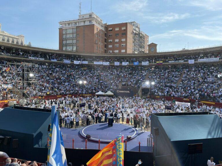 """Casado aspira a llenar hoy la plaza de toros de Valencia con 10.000 personas para visualizar que el PP """"ha vuelto"""""""