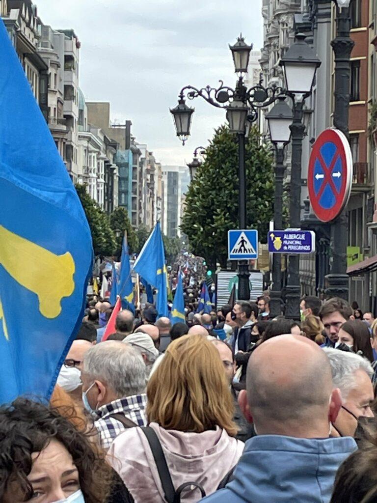 Manifestación multitudinaria en Oviedo por la oficialidad del asturiano